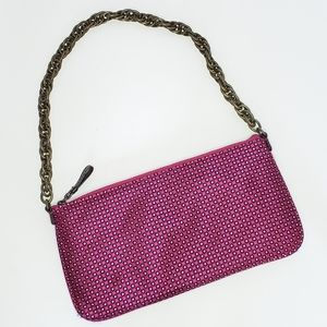 NWT J. Crew Silk Chain Strap Shoulder Bag pink